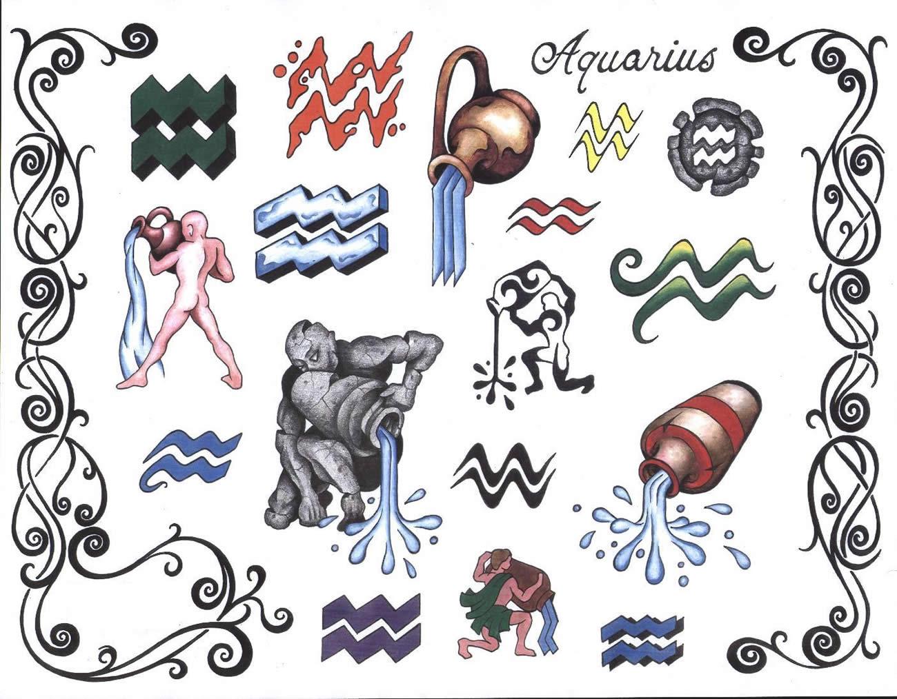 Сделав татуировку водолея- знака зодиака - вы увековечите свою